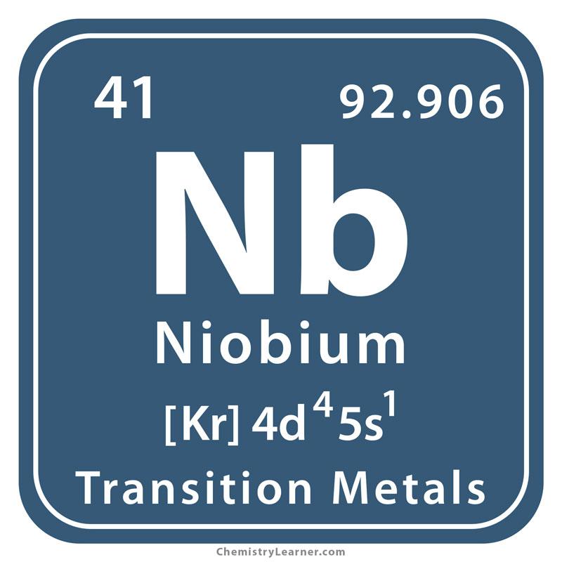 About Niobium >> Niobium Facts Symbol Discovery Properties Uses