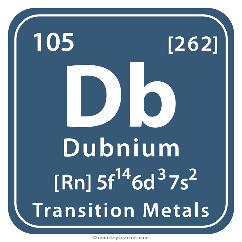 Dubnium Facts, Symbol, Discovery, Properties, Uses