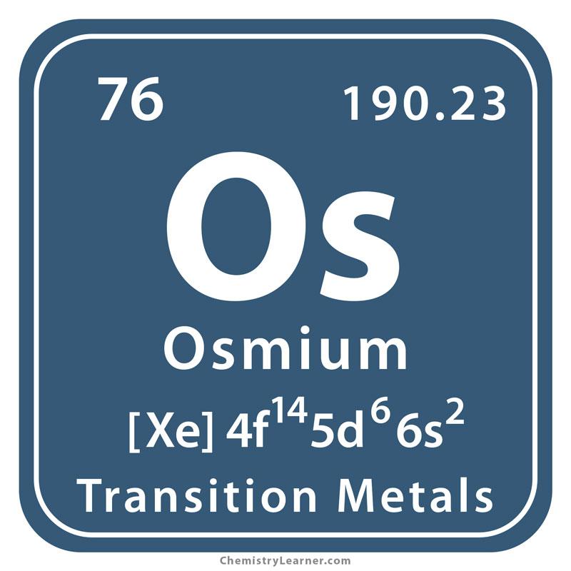 Osmium Facts, Symbol, Discovery, Properties, Uses