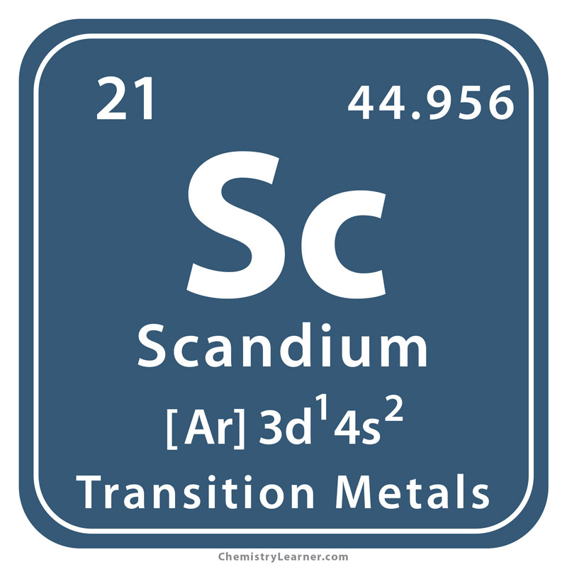Scandium Facts, Symbol, Discovery, Properties, Uses