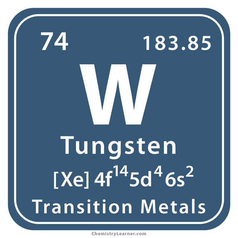 Tungsten Facts Symbol Discovery Properties Uses
