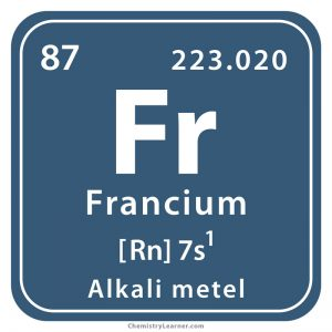 Francium Facts, Symbol, Discovery, Properties, Uses