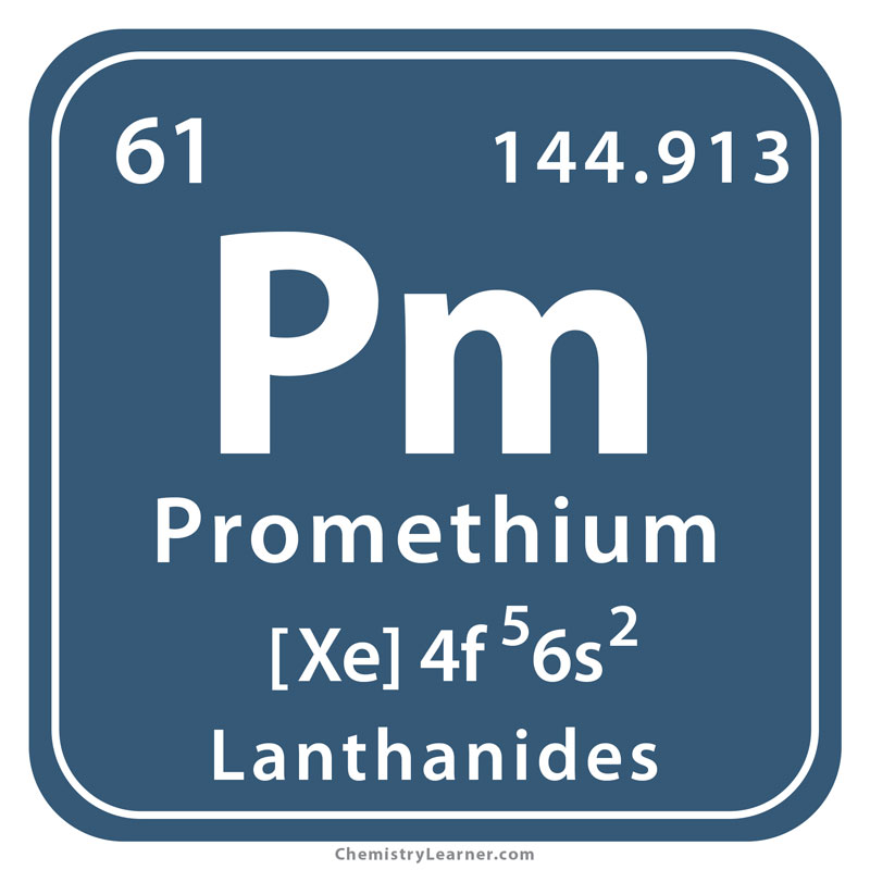 promethium facts  symbol  discovery  properties  uses