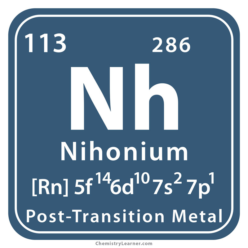 Nihonium Facts Symbol Discovery Properties Uses